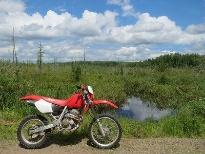 This motorcycle adds a whole new dimension of fun when I go camping in the national forest.
