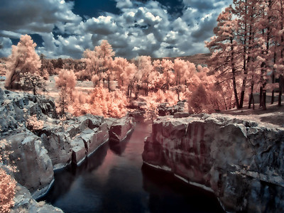 At Baker's Bridge in Durango, Colorado infrared creates a whole new perspective