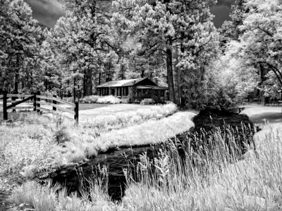 A house on a creek in Durango, Colorado