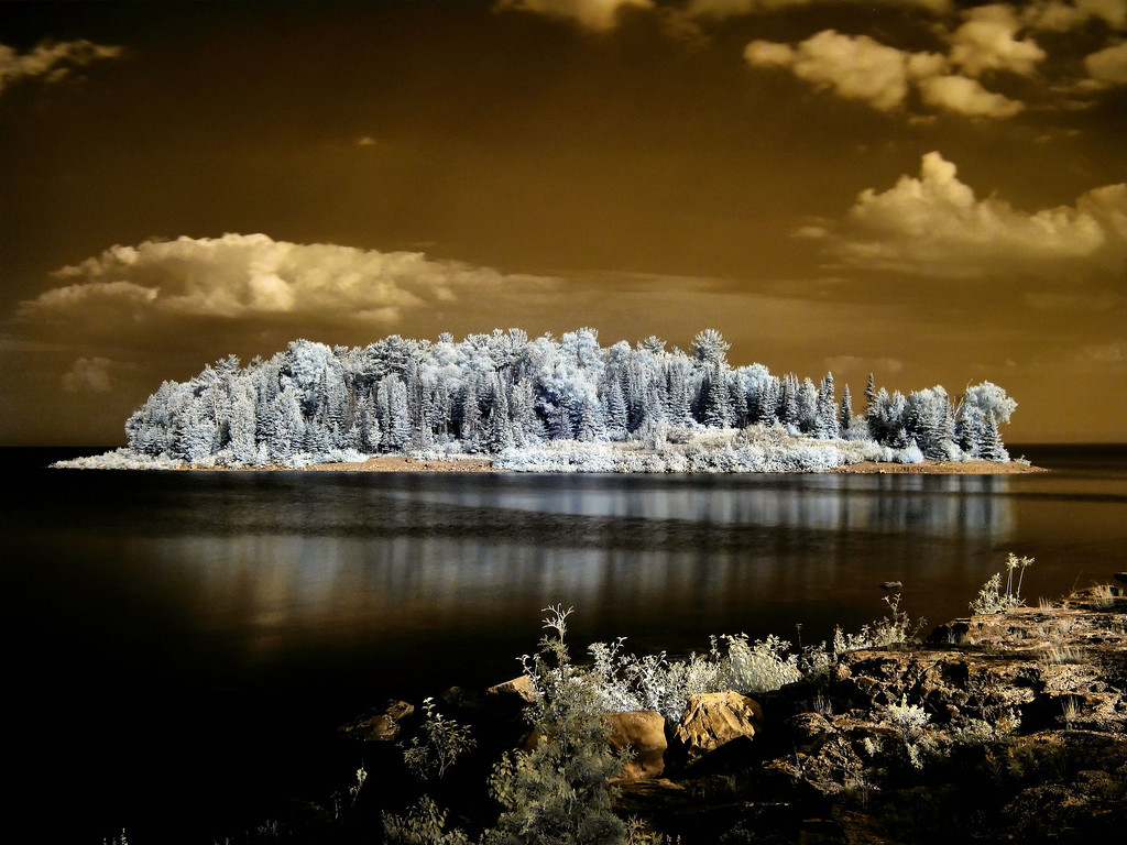 East Grant Island in Infrared.