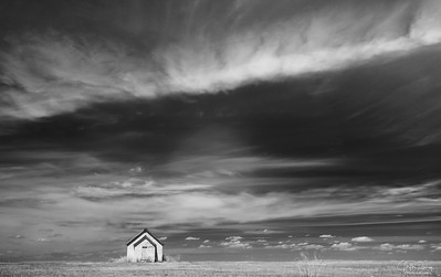 Lone shack, High Plains