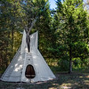 Camping Teepee at Forest Glen Nature Preserve - Georgetown, Illinois