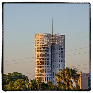 Torres de Hercules - The Towers of Hercules - office building in Algeciras. Herkules' Tårn - kontorbygning i Algeciras.