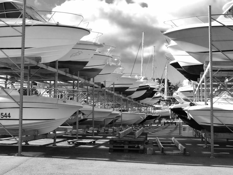 Parking à bateaux, port du Crouest, Morbihan(56)