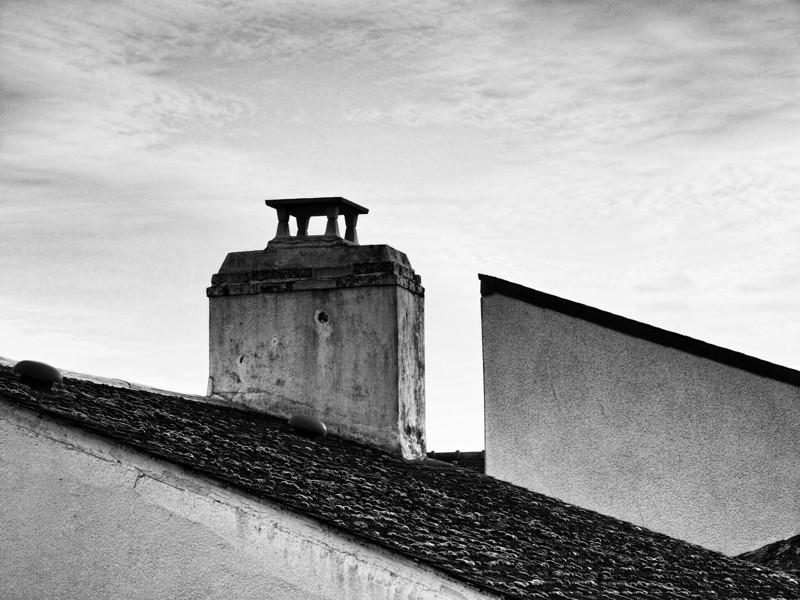 Les toits d'Arzon, village dans le Golfe du Morbihan (56) / France