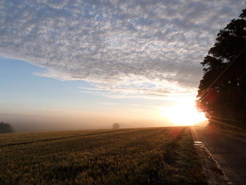 Les beaux jours se lèvent en allant sur Gas, Beauce