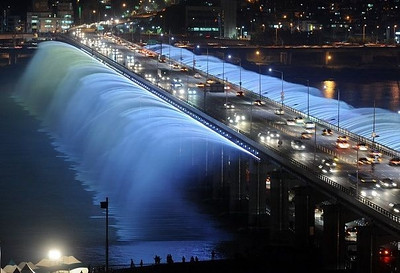 Banpo Bridge in Seoul, South Korea