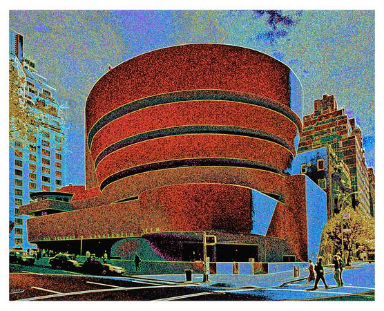 STYLIZED VERSION OF GUGGENHEIM MUSEUM, NEW YORK CITY, N.Y