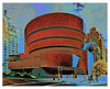 STYLIZED VERSION OF GUGGENHEIM MUSEUM, NEW YORK CITY, N.Y