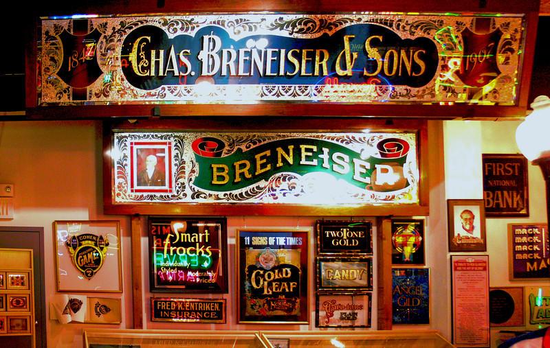 A collection in the Sign Museum, Cincinnati. Ohio.