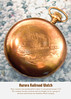 AURORA GOLD RAILROAD POCKET WATCH