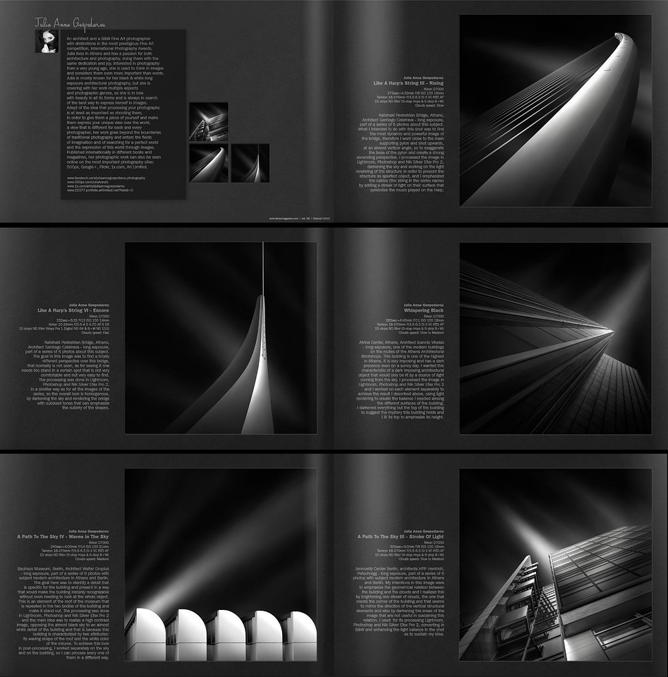 <b>PHOTOGRAPHY FEATURE AS FIRST ARTIST & Processing Techniques Insight</b>   - in LENSA Magazine - Fine Art Magazine.  Read more here: - http://bit.ly/Xz3lTG