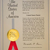 "The first official copy of a patent issued by the US Patent and Trademark Office comes bound in a pretty folder with an official seal embossed over a ribbon, making that the ""ribbon copy""<br /> So, i have something for show and tell if you come to my house."
