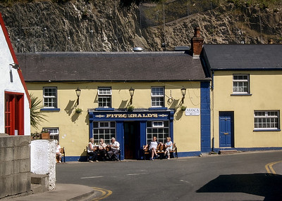 Sunny day outside the pub. Village of Avoca, Wicklow.