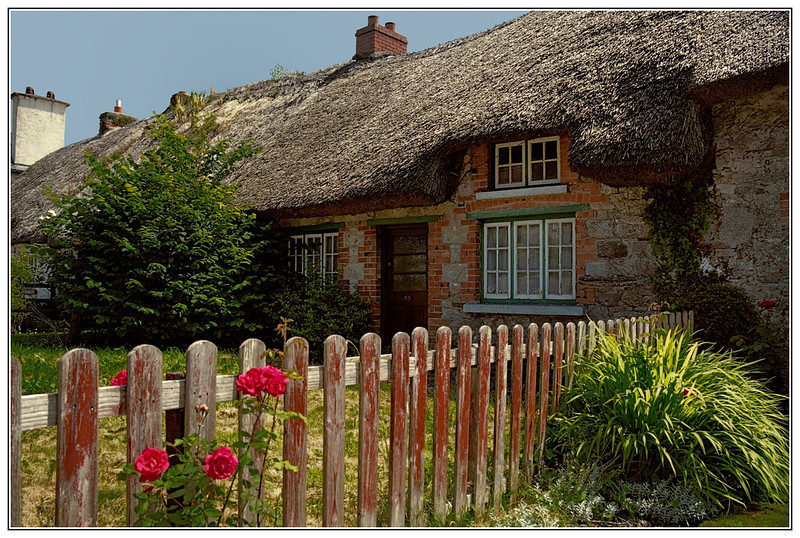 Home with thatched roof, Adare, Ireland