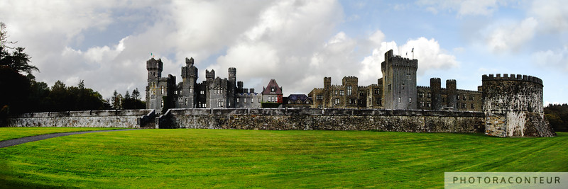 """Ashford Castle"" ~ The oldest portion of the castle was built in 1228, followed by major expansions in 1715, 1852, and most recently in 1970.  Ownership has passed through many hands including the Guinness family's before being turned into a luxury resort by Irish-American investors in 1985.   This multi-frame stitched photo has an aggregate size of 48 megapixels."