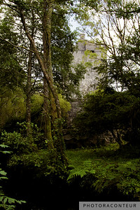 """Castle by the River"" ~ Aughnanure Castle stands tall on the opposite side of the modest Drimneen River in County Galway, Ireland."