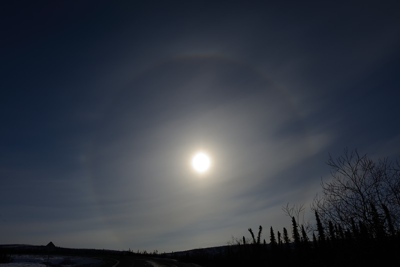 Sun halo at 11:52:01 AM on March 20, 2013 captured with <br /> Nikon D800 camera and 24mm f/1.4G ED lens<br /> <br /> Largest available Photo Dimensions: 7360 x 4912