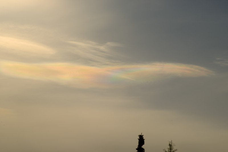 Iridescent cloud at 10:20:52 AM on March 20, 2013 captured with<br /> Nikon D800 camera and AF-S 300mm 4.5-5.6G ED  lens<br /> <br /> Largest available Photo Dimensions: 7360 x 4912