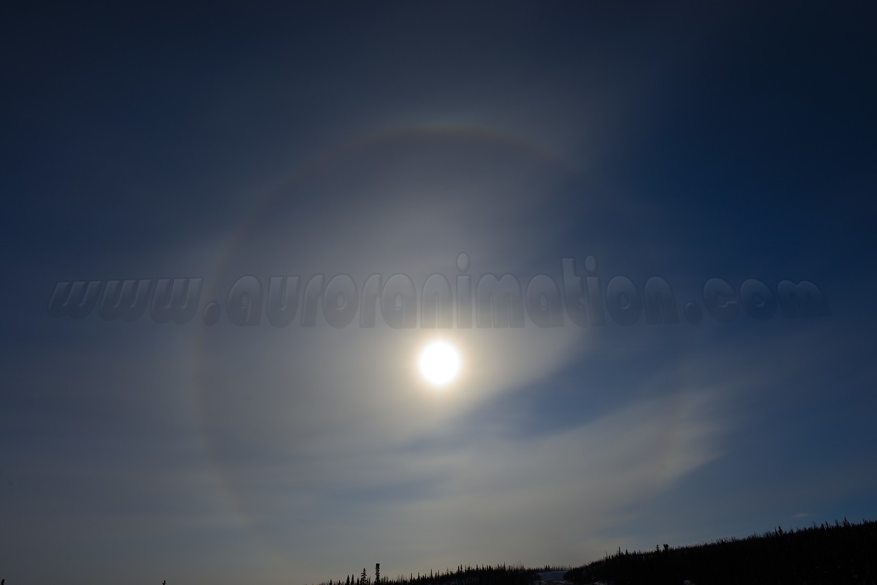 Sun halo at 11:59:26 AM on March 20, 2013 captured with <br /> Nikon D800 camera and 24mm f/1.4G ED lens<br /> <br /> Largest available Photo Dimensions: 7360 x 4912