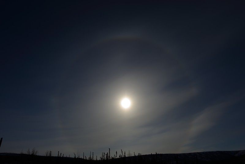 Sun halo at 11:53:14 AM on March 20, 2013 captured with <br /> Nikon D800 camera and 24mm f/1.4G ED lens<br /> <br /> Largest available Photo Dimensions: 7360 x 4912