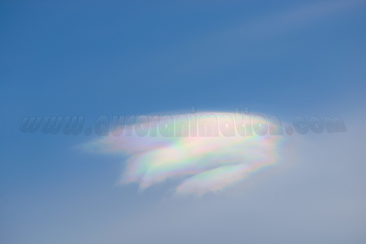 Iridescent cloud at 01:05:01 PM on March 20, 2013 captured with<br /> Nikon D800 camera and AF-S 250mm 4.5-5.6G ED lens<br /> <br /> Largest available Photo Dimensions: 7360 x 4912