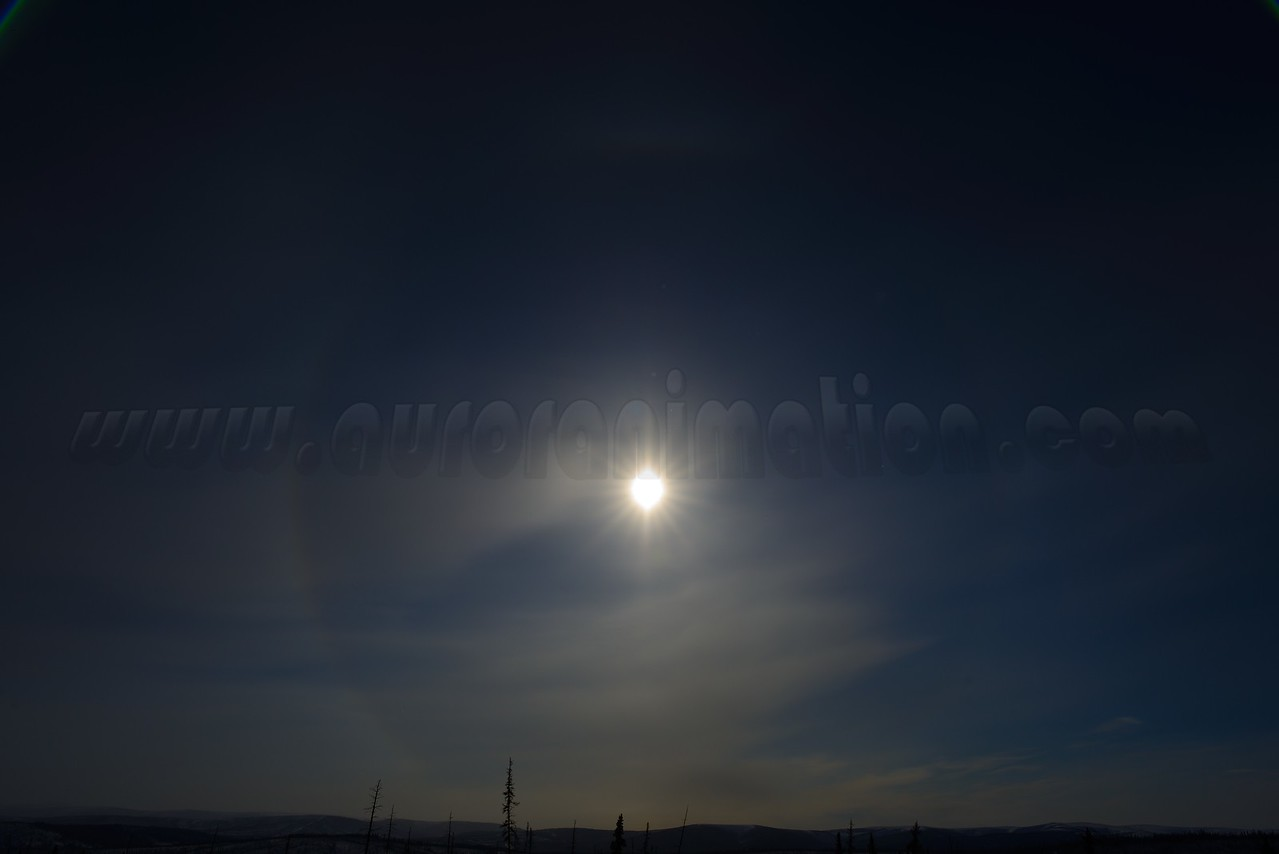 Sun halo at 12:02:41 PM on March 20, 2013 captured with <br /> Nikon D800 camera and 24mm f/1.4G ED lens<br /> <br /> Largest available Photo Dimensions: 7360 x 4912