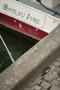 Along the Seine.