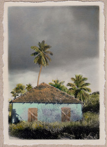 Off Queen's Highway, hand-painted photograph