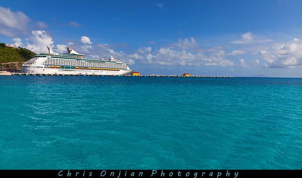 The Explorer of the Seas @ St. Martin.
