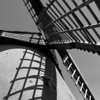 Bembridge windmill, again. With some of my B&W shots I like to make use of shadows or reflections
