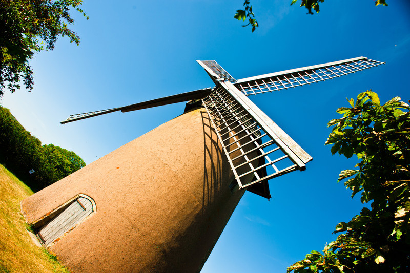 Bembridge Windmill, a sort of standard arty windmill shot, I enhanced the colours using 'Velvia' film emulation.