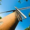 Bembridge Windmill, a sort of standard arty windmill shot, I enhanced the colours using 'Velvia' film emulation.