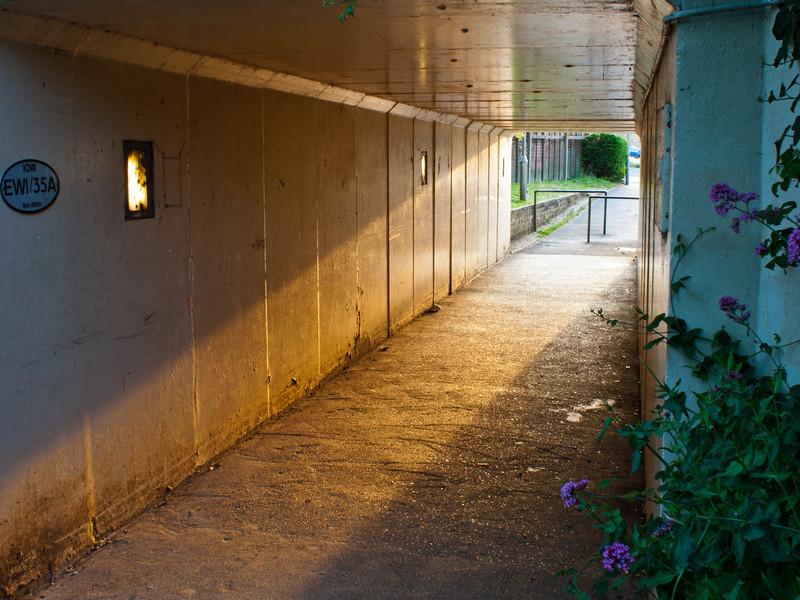 A cycle/pedestrian underpass.