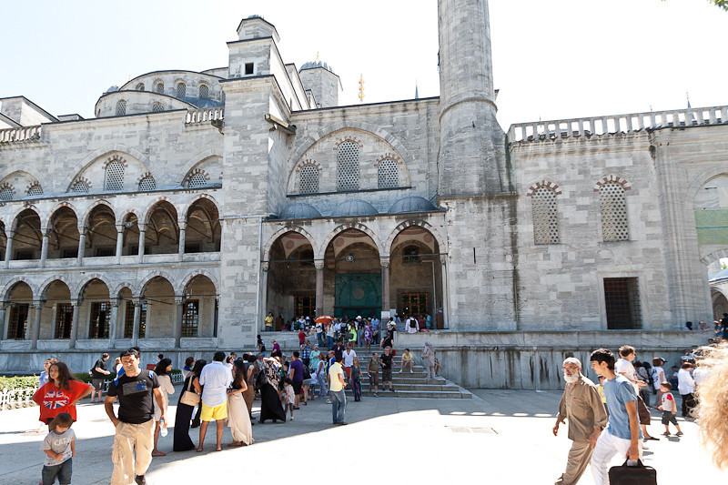 Exiting the Blue Mosque