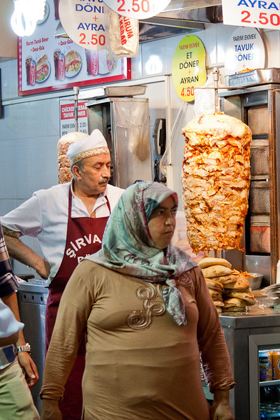 Selling shwarma in the Spice Market