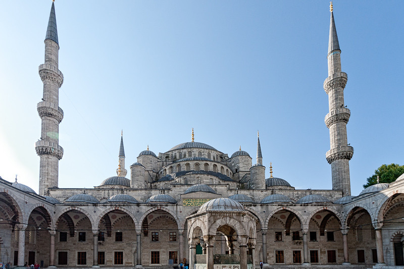 From the courtyard of the Blue Mosque