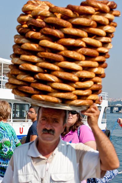 Pretzel vendor on the streets of Istanbul