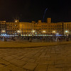 The main square in Siena at night