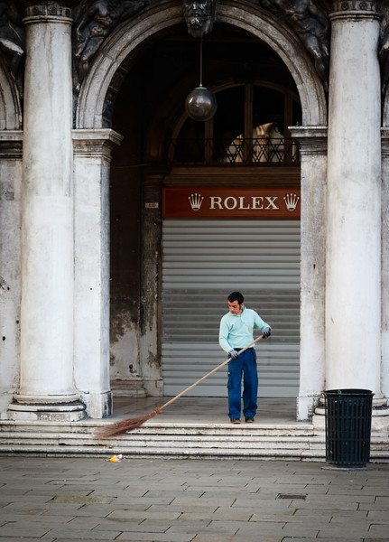 Venice, Morning Street Sweeper