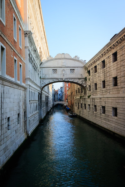 Venice, Canal with two bridges