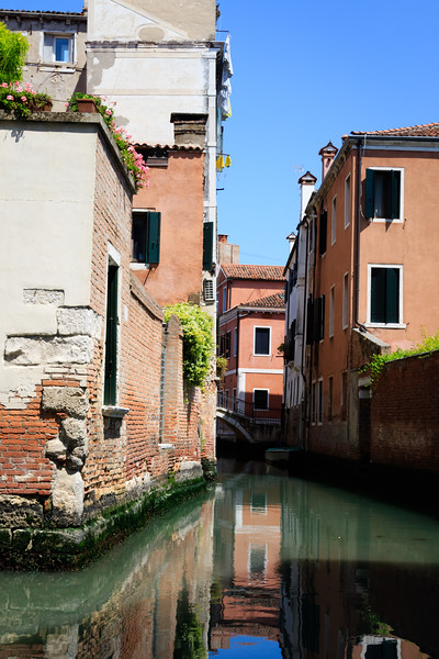 Venice, Canal with half bridge