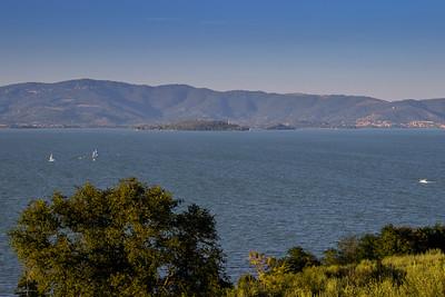 Sailboats on Lago di Trasimeno