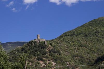 Abandoned castle along the Narni River