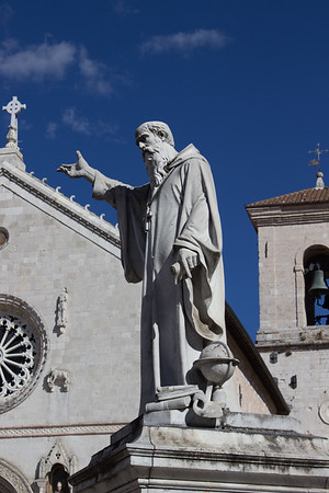 Statue of St. Benedict, Norcia