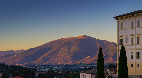 Sunset on the Apennines, Spoleto