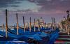 Venice - early morning gondolas near San Marco.