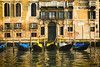 Gondolas on the Grand Canal - Venice