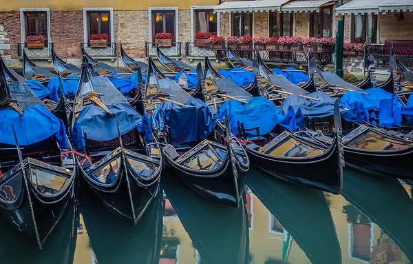 Venice - gondola parking lot