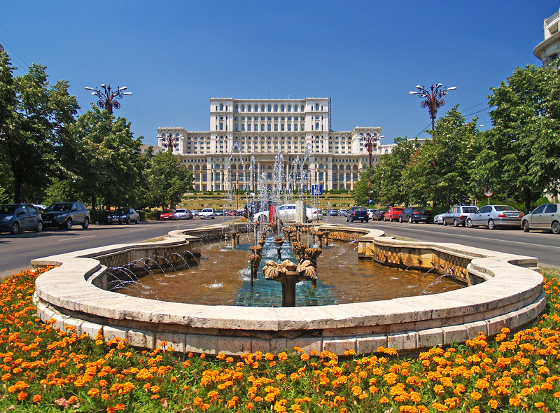"""Peoples' House - Bucharest Romania<br />  <a href=""""http://en.wikipedia.org/wiki/Palace_of_the_Parliament"""">http://en.wikipedia.org/wiki/Palace_of_the_Parliament</a>"""